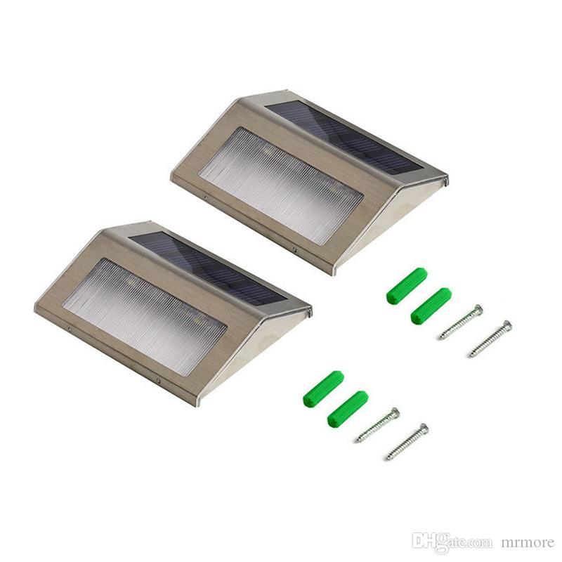 방수 LED 태양 빛 램프 태양 LED 홍수 조명 2 LED 정원 조명 야외 풍경 잔디 램프 태양 벽 램프