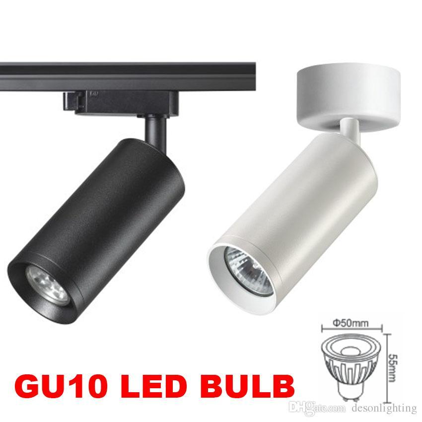 LED parça ışık Spot GU10 led ray lambası mağaza mağaza spot aydınlatma için iluminacao aydınlatma armatürü Tavan Kolye Tracklight 1 2 3 fazlı