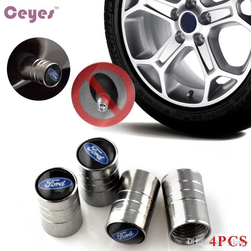 자동 자동차 휠 타이어 밸브 캡 커버 포드 포커스 2 3 fiesta kuga mondeo 레인저 엠 블 럼 자동차 스타일링 4PCS / LOT