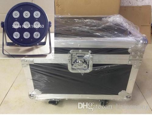 8pcs 9x12W With flightcase DJ Disco Lighting Par Led RGBW Stage Par Light DMX Controller Party Disco Bar Strobe Dimming Effect