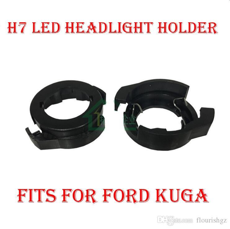 2 STÜCKE H7 LED Scheinwerfer Conversion Kit Lampenfassung Halter Adapter Halter Buchse Clip Für VW 2017 Alfa Romeo Magotan Ford KUGA HID Halogen Conv
