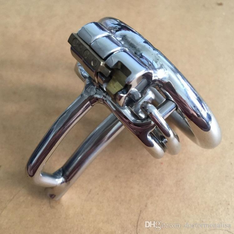 Medico Mona Lisa - Il nuovo dispositivo Maschio Chastity Cage Sounding cintura in acciaio inox Kit catetere uretrale con filo spinato Anello BDSM Toys
