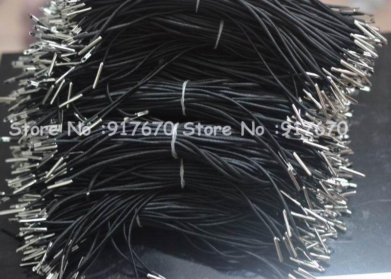 Adornos navideños 100pcs / lot 2mm Cordón elástico negro en la máscara, suministros para fiestas de eventos en máscaras de disfraces de disfraces