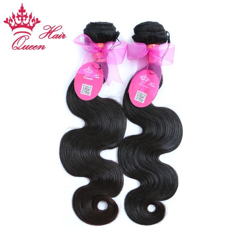 퀸 헤어 제품 100 % 브라질 처녀 인간의 머리카락 몸 파도 2pcs 많이 DHL 무료 배송