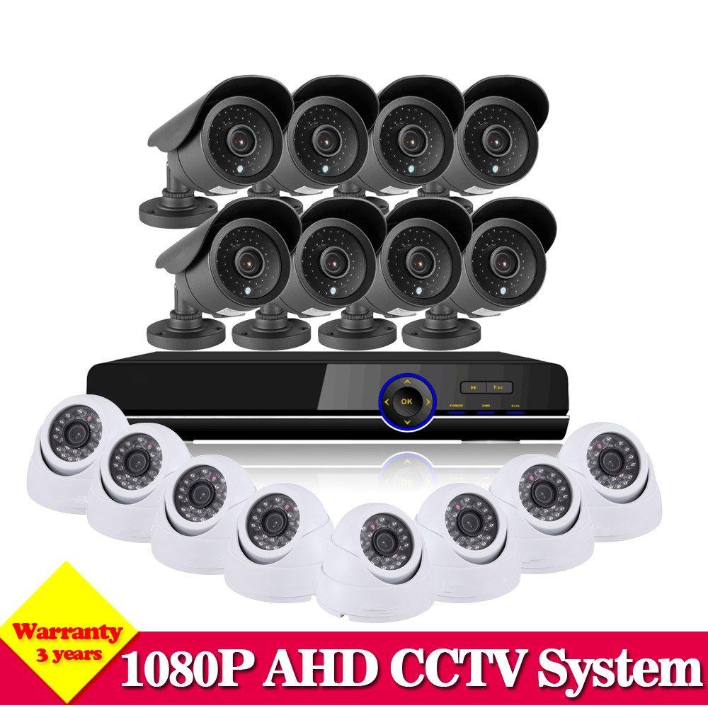 CCTV System 16CH HDMI 1080P DVR Video CCTV System 16Pcs 2.0MP 3000TVL IR indoor outdoor Security Camera Surveillance System