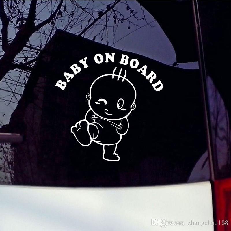 1pc reflexiva del coche pegatinas de advertencia 15cm * 15cm Bebé a bordo de advertencia de seguridad del bebé Pegar auto auto de la etiqueta engomada del vehículo