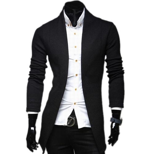New Brief V-neck Fashion Mens Sweaters Cardigan Knitted Slim fit Casual Outerwear Man Clothing 3 Color M-XXL