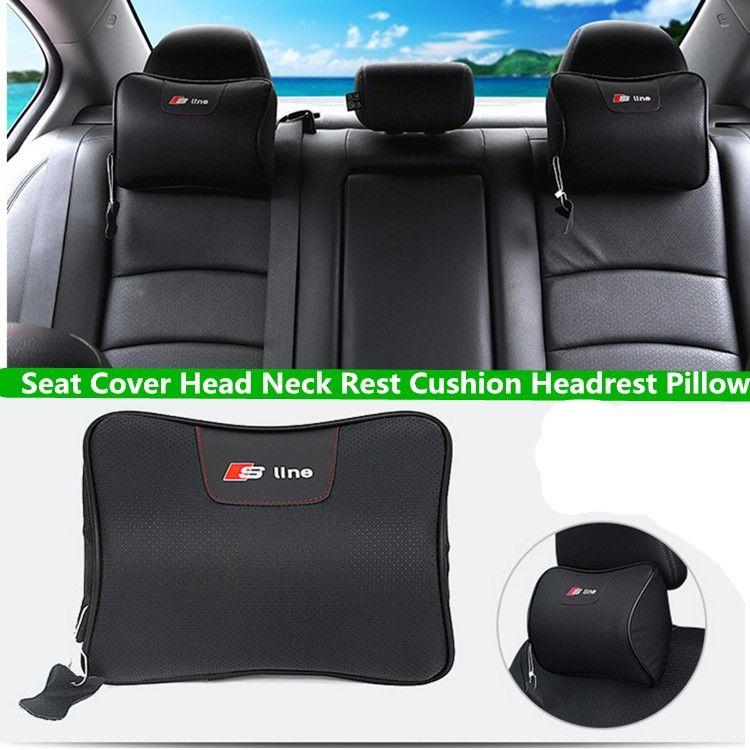 For Car Audi Sline Leather Neck Super Soft Memory Foam Auto Seat - Audi car seat
