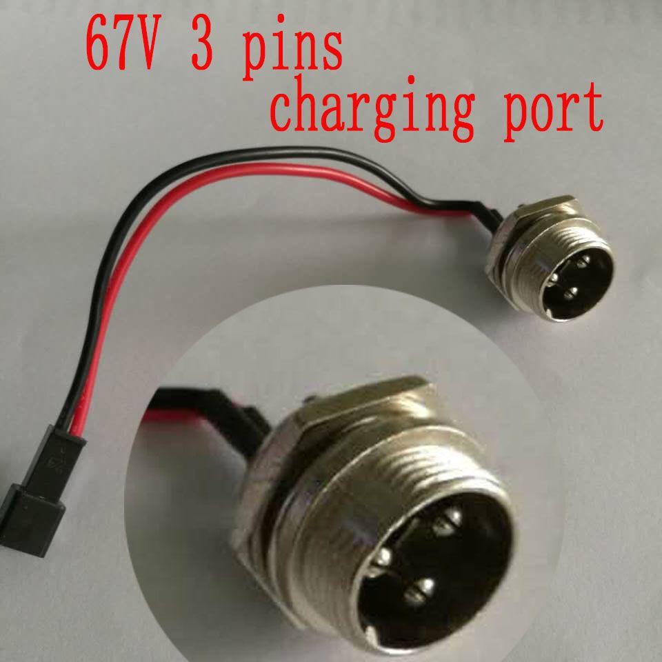 GotWay электрический одноколесный велосипед 67V 3-контактный порт зарядки подходит для MCM4 ACM Msuper V3