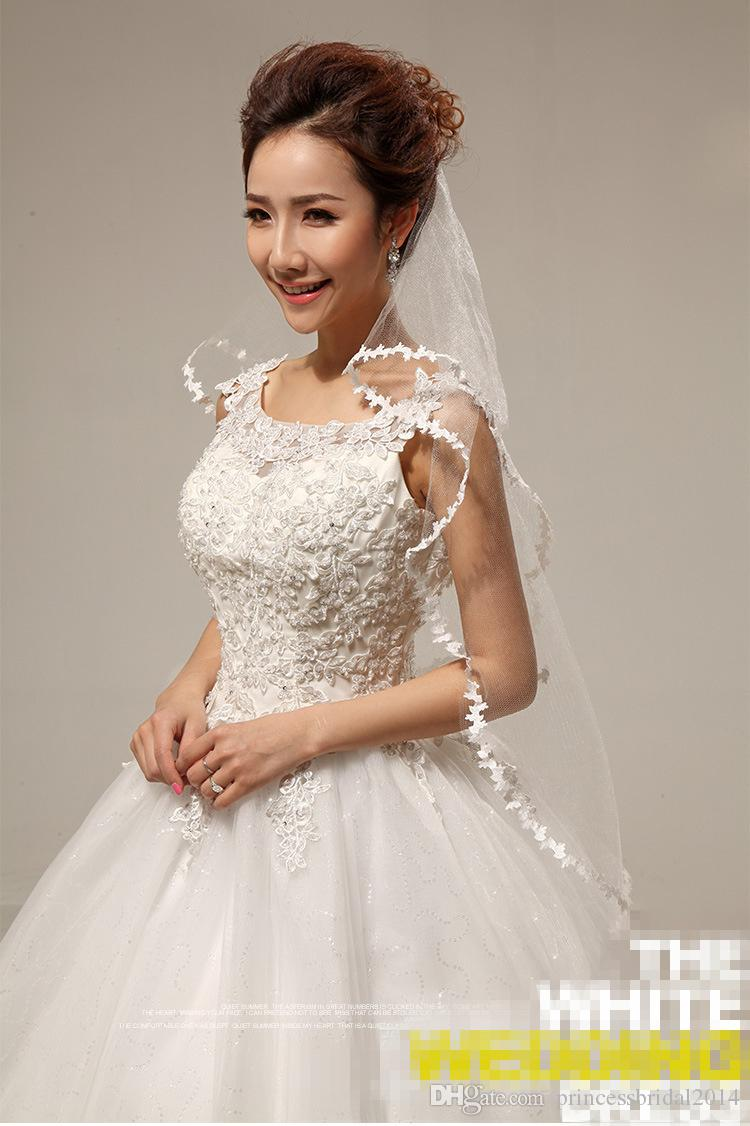 High Quality New Ivory Tulle Appliques One Layer Wedding Bridal Accessory For wedding Dresses Hot Fashion Wedding Net In Stock
