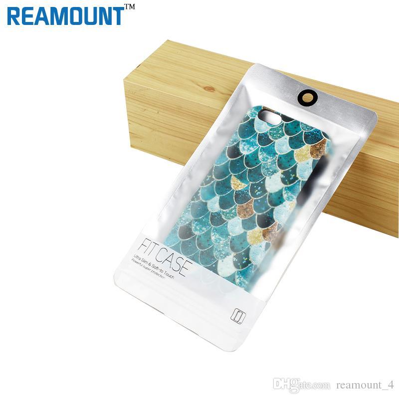Toptan Su Geçirmez Fermuar Plastik Perakende Paketi Çanta için iPhone 6 6 Artı Telefon Kılıfı Ambalaj Çantası Google Piksel LG G6