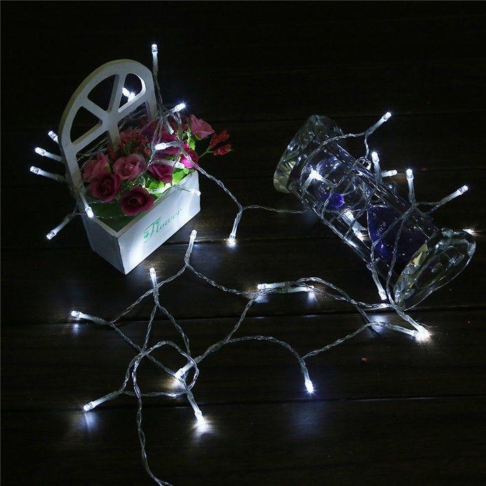 New LED String Mini Fairy Lights 40Leds 3XAA Battery Power ...