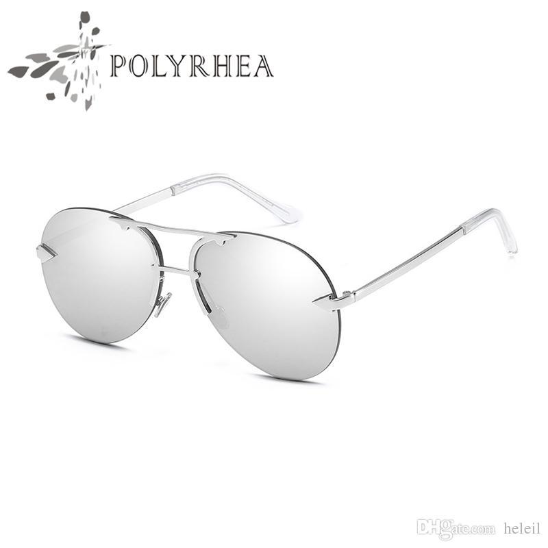 Высококачественные классические безмасштабные солнцезащитные очки женщин дизайнер бренда Sun Glasses Twin-Beams Зеркало покрытия с коробкой и корпусом