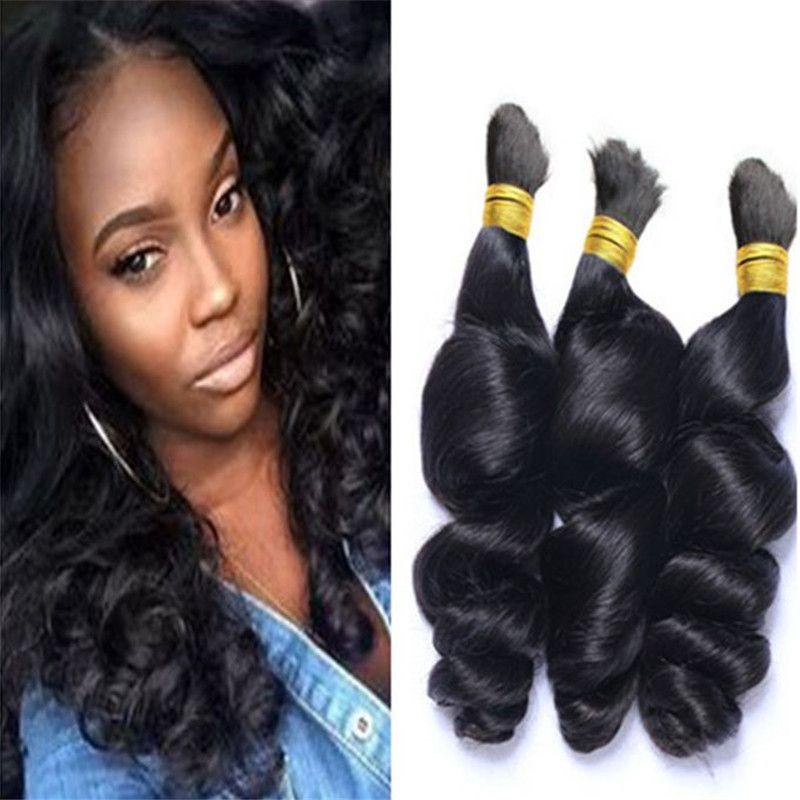 Brezilya örgü saç dökme hiçbir atkı gevşek dalga doğal 1b% 100 insan saç dökme 3 adet bir atkı aralığı