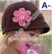 Princess Flower Hat Baby Kids Infant Toddler Girls Newborn Autumn Winter Children Beanie Crochet Knitted Headwear Caps Cotton Photo Props
