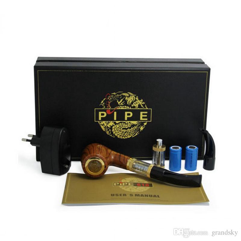 Marka Yeni Profesyonel 618 E-BORU Başlangıç Kiti E-Sigara ePipe Kiti 2.5 ml Atomizer Ile 18350 Piller Yüksek Kalite Boru Ücretsiz kargo