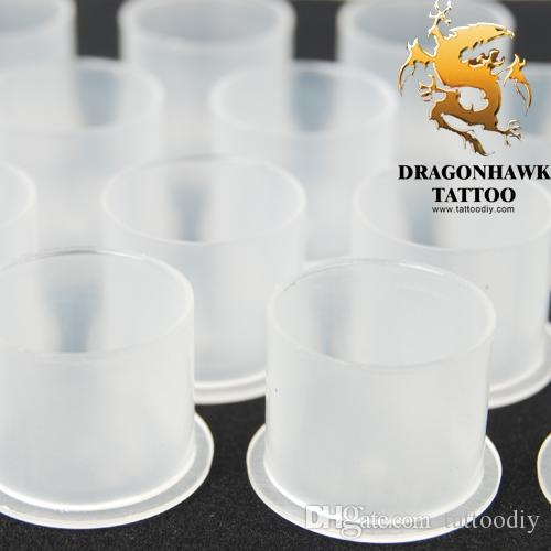50pcs high quality Plastic tattoo ink cups with base more stable white color Large size factory price WS075-6