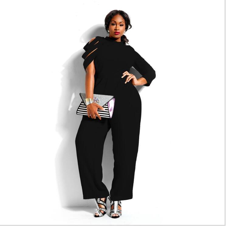 2019 Womens Loose Party Playsuit Romper Dress Long Sleeve Jumpsuit ...