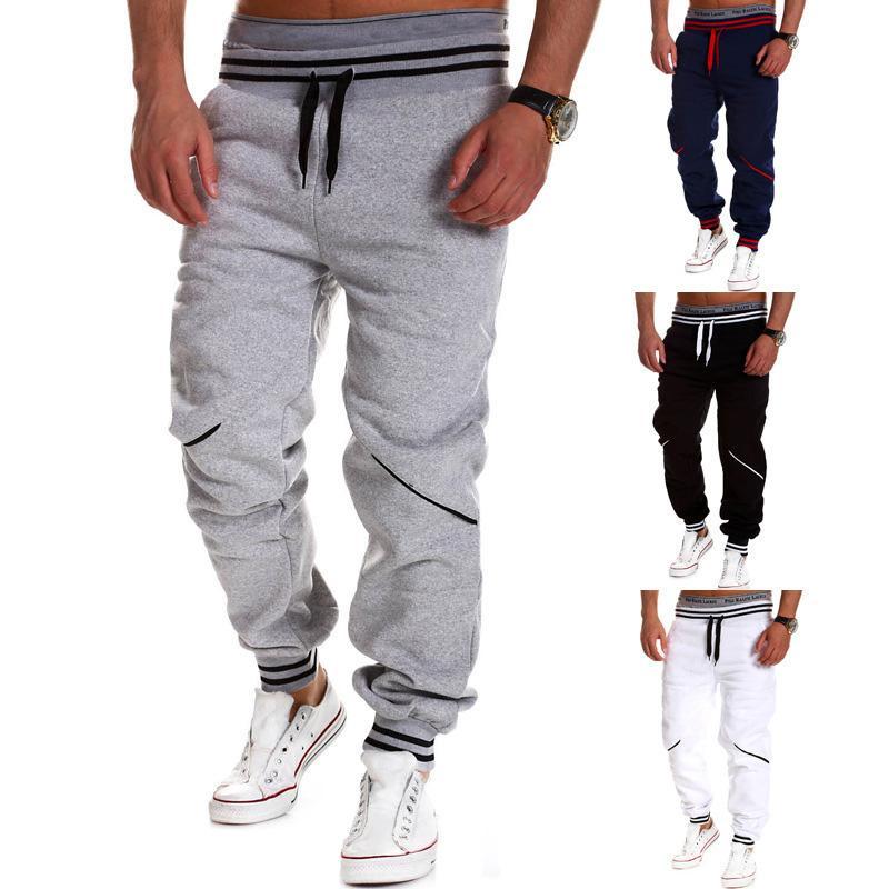 Toptan-Men Günlük Pantolon 2016 Moda Letter Baskılı Elastik Uzun eşofman altı Koşucular Giyim Gevşek Fit Taktik Sweatpants