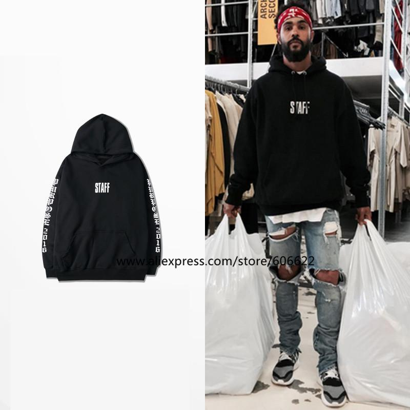 New 2017 men black hoodie