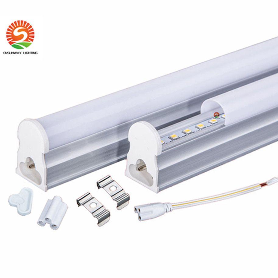 T5 8 pies de tubo de led de 45W integrado T5 Lámpara fluorescente de LED Tubo de luz caliente natural fresco del blanco de la CA 110-277V + CE UL