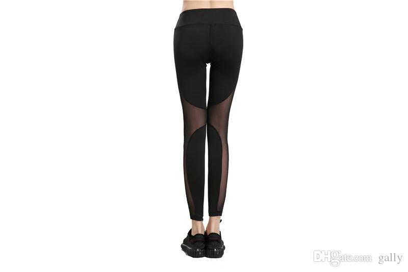 2017 siyah yoga dokuz hızlı kuru spor koşu womens yüksek bel spor yoga pantolon sıkıştırma dans clothing ücretsiz drop shipping gally