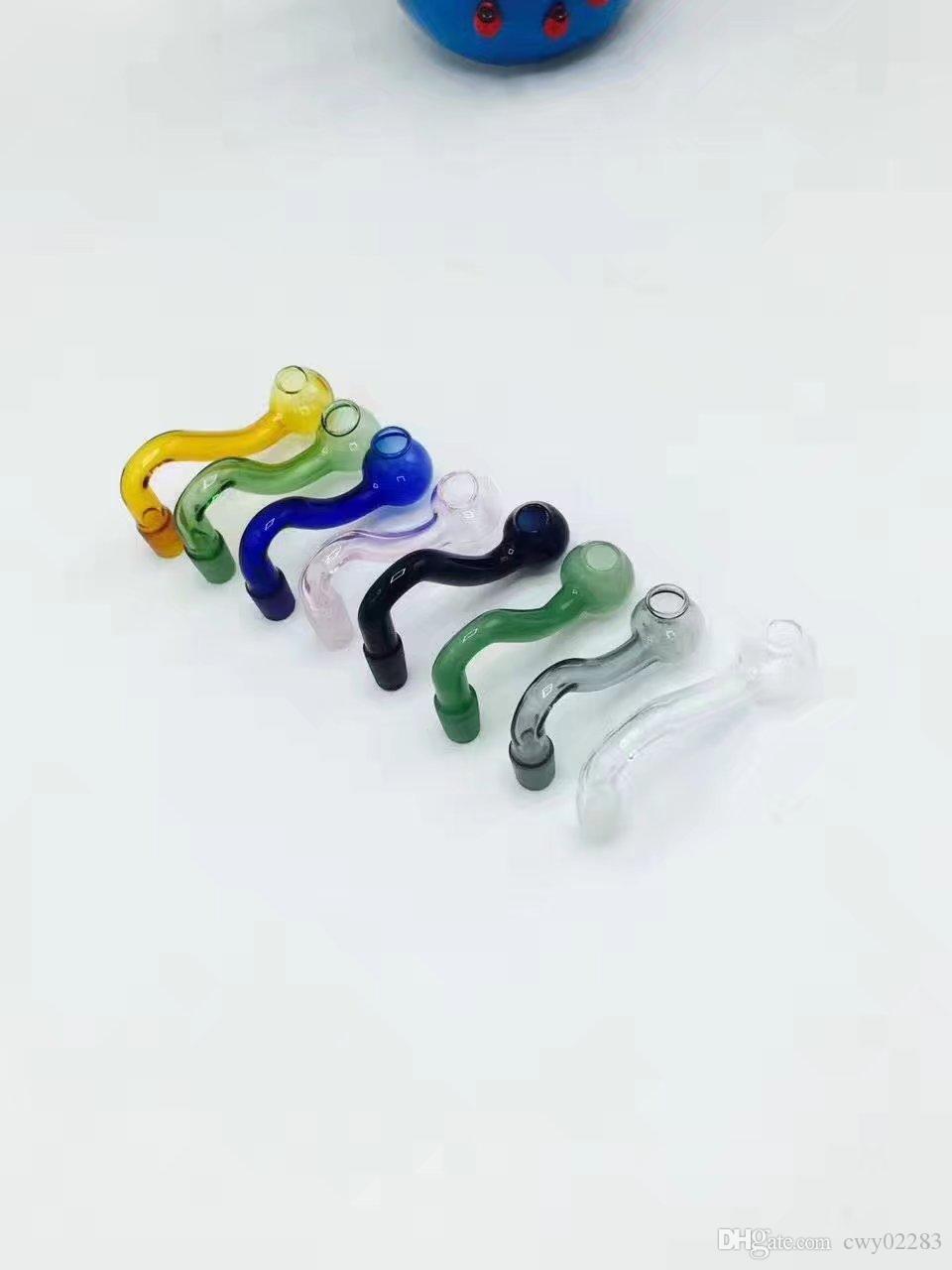 Цвет S дым горшок , стеклянные бонги аксессуары уникальный масляная горелка стеклянные трубы трубы водопровода стеклянная труба нефтяные вышки курение с капельницей