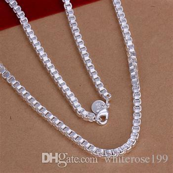 Wholesale - Retail lowest price Christmas gift, free shipping, new 925 silver fashion Necklace N115
