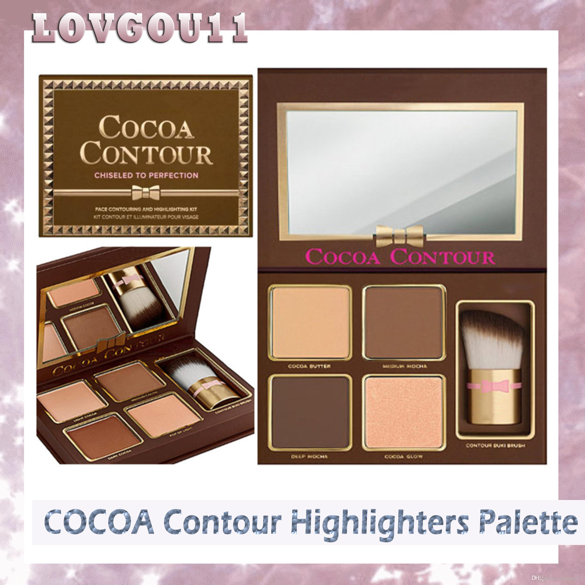 New Makeup COCOA Contour Highlighters Palette Nude Color