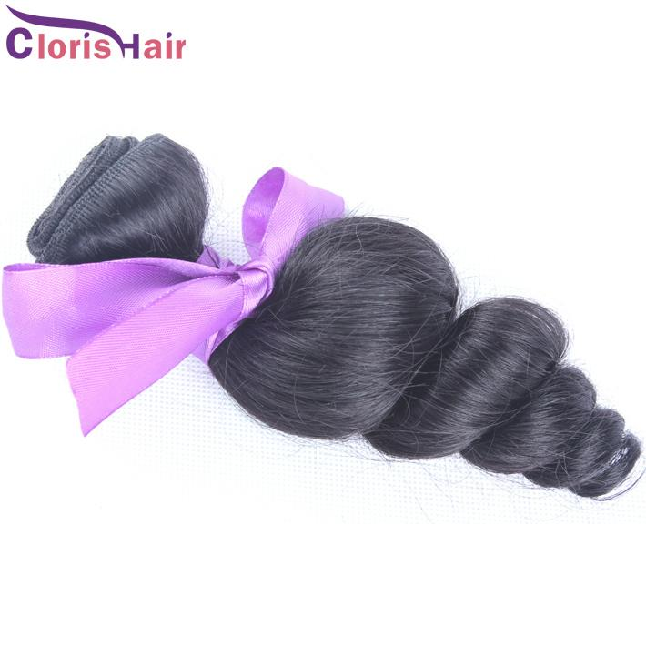 Economy Unprocessed Malaysian Virgin Loose Wave Curly Hair Weave 1Bundle Loose Curl Human Hair Extensions Wholesale Best Price Malaysia Weft