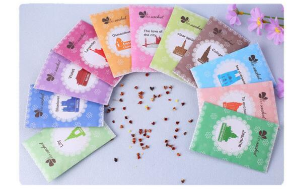 Natural multifunzionale Deodorante Bustina per le case auto Scent Bag diverse fragranze di trasporto di prezzi all'ingrosso di nuovo