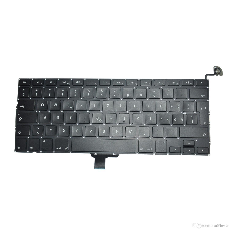 A1278 Швейцарская клавиатура для MacBook Pro 13 '' A1278 Swiss Switzerland замена клавиатуры 2009-2012