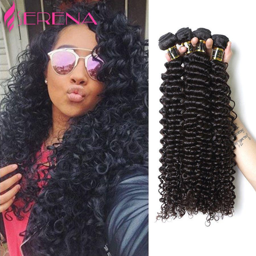 Abordable Malaisie Cheveux Vierges 3 Bundles Pas Cher Malaisiens Bouclés Cheveux Weave Bundles 8A Non Transformés Humain Profond Bouclés Vierge Weave Trame