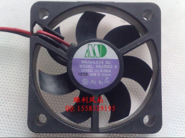 Оптовая продажа: используется SUNON N5010B2-8 12V 0.06 a 5 см 50102 вентилятор охлаждения провода