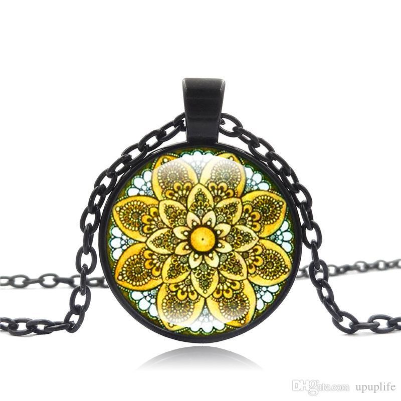 Collana della pietra preziosa della collana della pietra preziosa del pendente della collana della pietra preziosa europea e americana all'ingrosso
