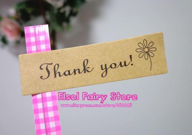 Commercio all'ingrosso 1800pcs adesivo bella guarnizione 'grazie' Etichetta sigillo regalo etichetta di carta per regalo bomboniera borsa regalo Candy Box Decor