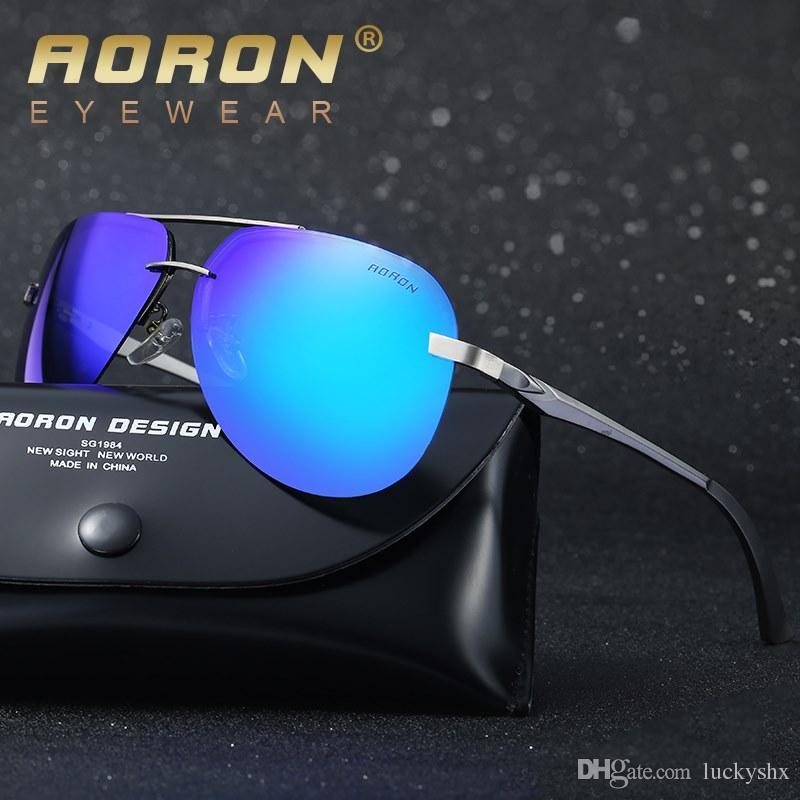 Nouvelle marque lunettes de soleil polarisées pour hommes Classique en alliage Goggles Designer de mode femmes loisirs Lunettes Unisexe New Eyewear A143