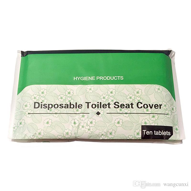 صديقة للبيئة قابلة للتحلل الحيوي للذوبان في الماء المرحاض المتاح غطاء مقعد ورقة لفندق وTrvel 10sheets / PCS * 30