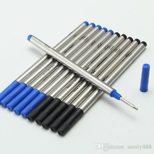 Venda quente-Boa Qualidade Preto / Azul Tinta Padrão Internacional de Recarga para rollerball pen 710 recargas bola caneta escrita refil para mb caneta