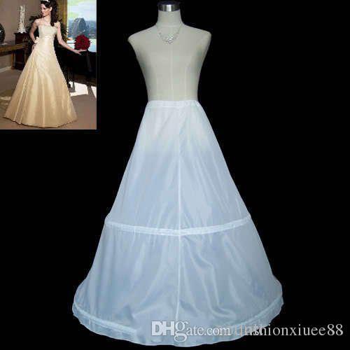 ¡Envío gratis! En existencia A-Line 2 aros enagua blanca nupcial Slip boda cintura ajustable novia nupcial niña enaguas