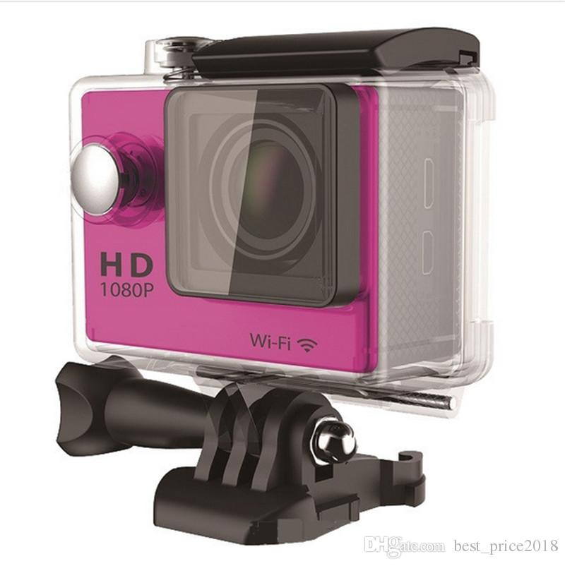 """Free DHL Waterproof Sports Cam W9 HD Action Camera Diving Wifi 1080P 30M 2.0"""" 170° View DV HDMI Camcorders DHL Colorful 30pcs"""