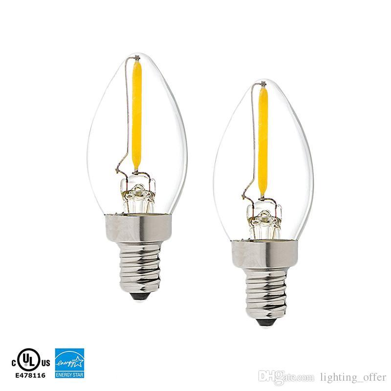 C7 Led Bulb >> C7 Led Filament Bulb E12 Candelabra Base Household Night Light 0 5 Watt Equivalent To 12w Incandescent Bulb 100lumen Warm White 2700k Best Led Light