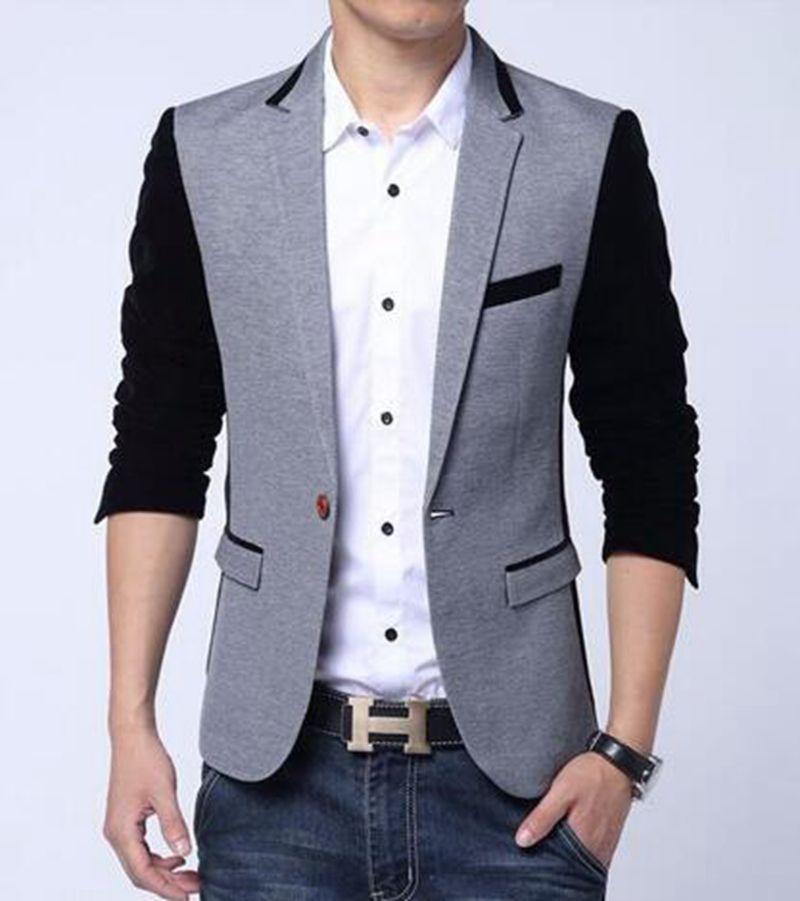 유럽의 남성과 레저 비즈니스 영어 새로운 패션 부티크 성격 스 플라이 싱 작은 정장 재킷 / M-6XL