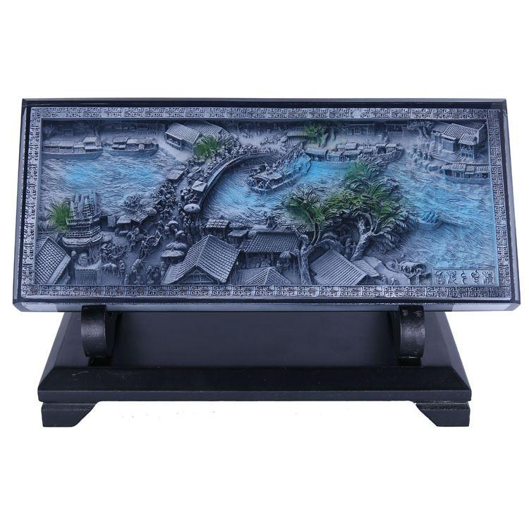 Crystal relief decoration painting exhibition souvenir gifts Foreign Affairs Festival birthday gift