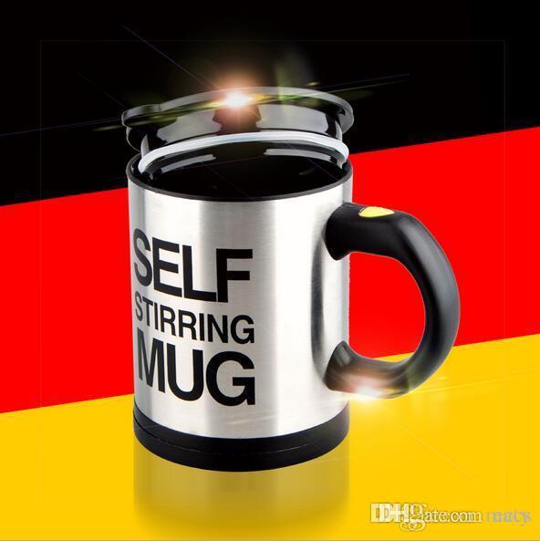 Tazza in acciaio inox 400ml 6 colori per bere caffè miscelazione automatica auto miscelazione caffè