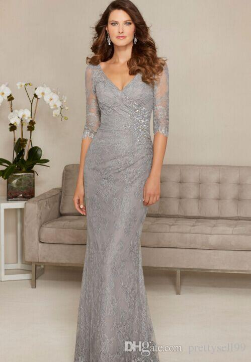 Половина рукава Русалка кружева мать платьев невесты 2021 с бисером Аппликации длина пола формальные вечерние вечеринки