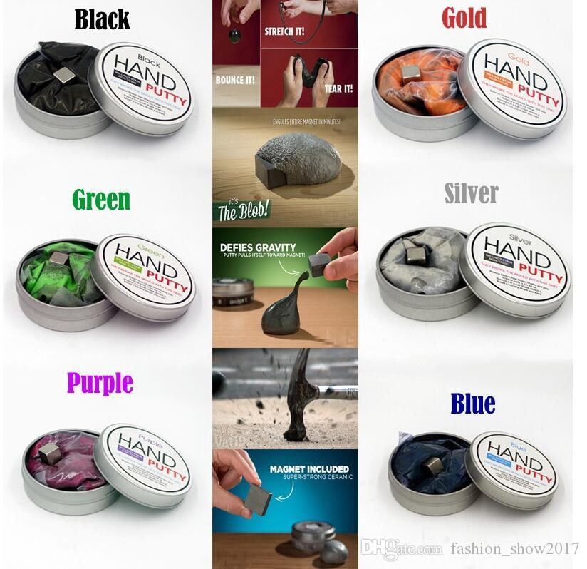 Magnetic Rubber Mud Hand Gum Silly Putty Magnet Clay Magnetic Plasticine Novelty Reduce Pressure Anti-stress Toys
