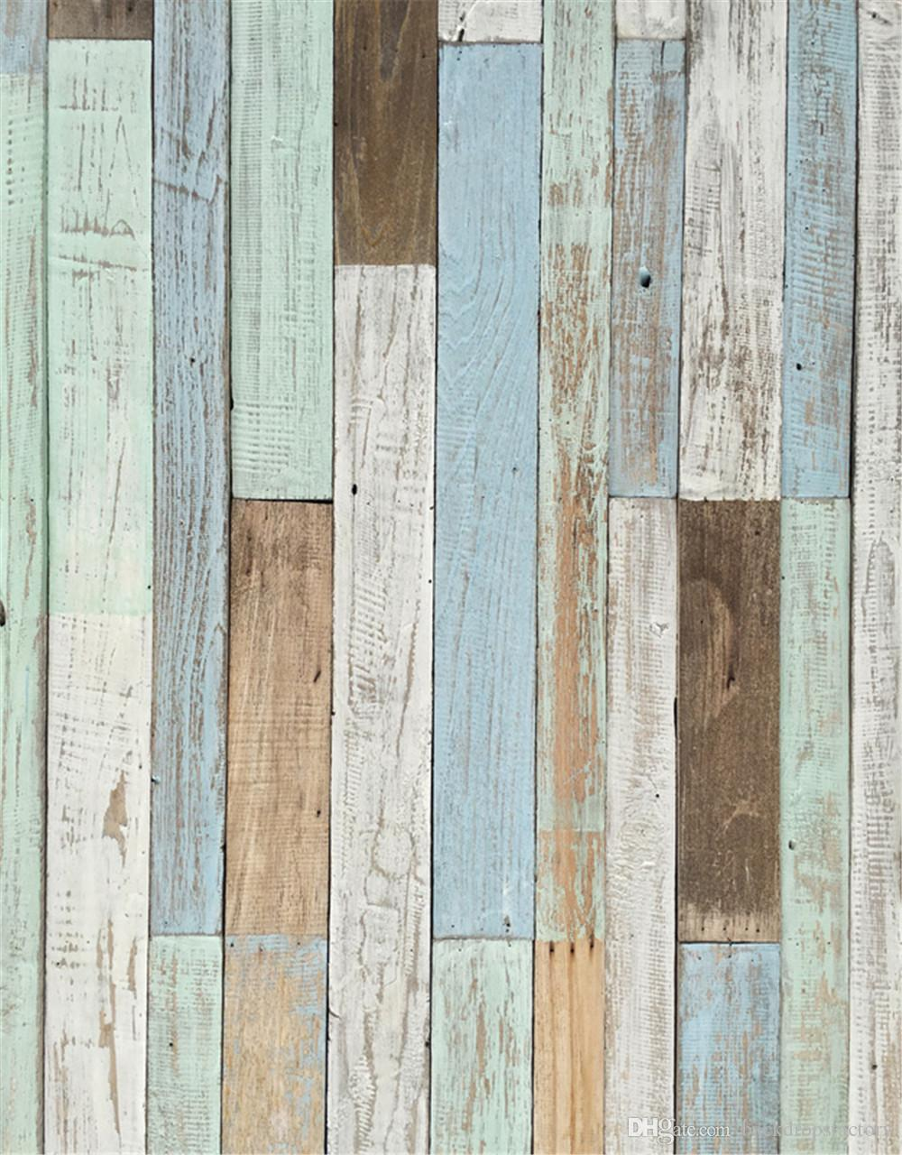 Digital Painted Wood Planks Photography Fondali Vinile Bambini Bambini Studio Ritratto Photo Booth Sfondi per Neonato