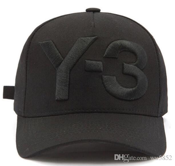 2017 Nuovo Y3 Papà grande cappello Bold Logo ricamato berretti da baseball regolabile Snapback Hats osso Strapback Y3 sport tappo Casquette visiera Gorras
