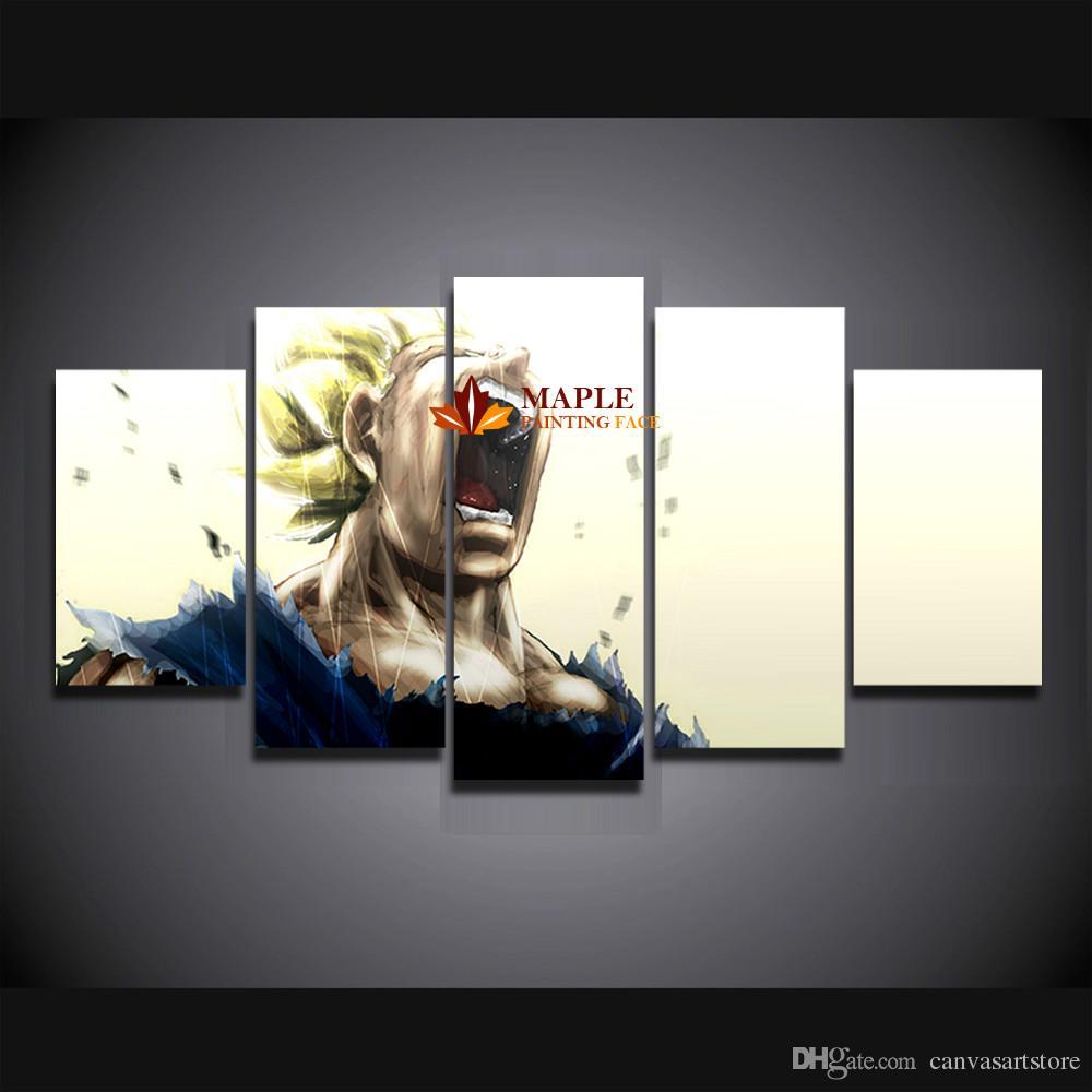 HD Canvas Print 5 Peças Grande Pintura Dragon Ball Pintura Na Lona Retrato Da Arte Da Parede Para Sala de estar / Quarto Decoração Da Parede